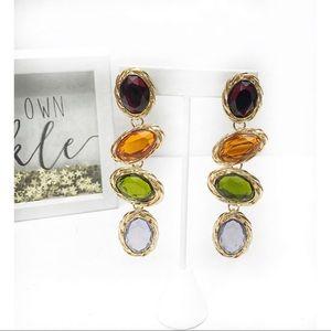 Bauble Stone Drop Earrings